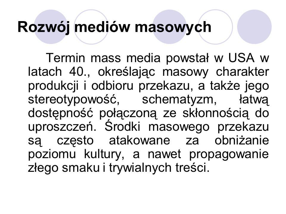 Rozwój mediów masowych