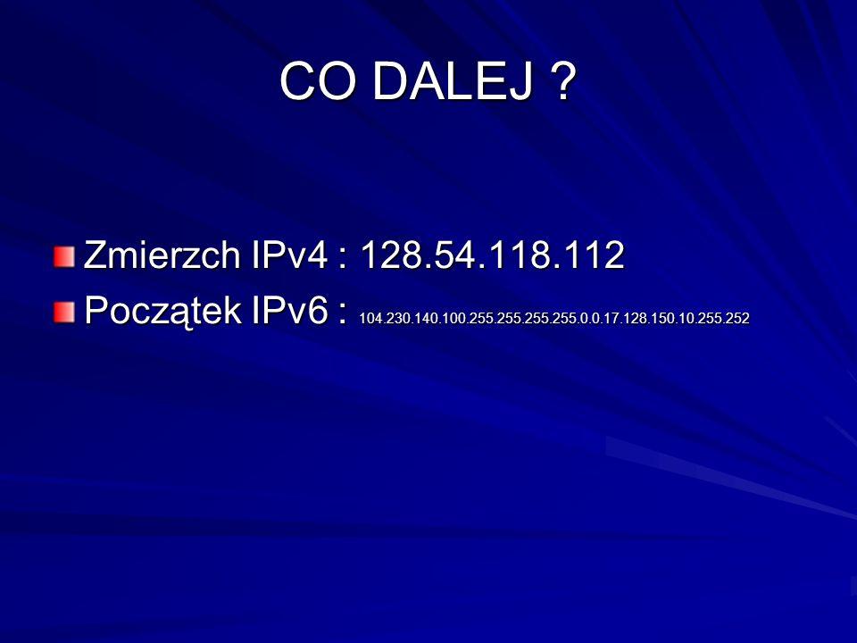 CO DALEJ . Zmierzch IPv4 : 128.54.118.112.
