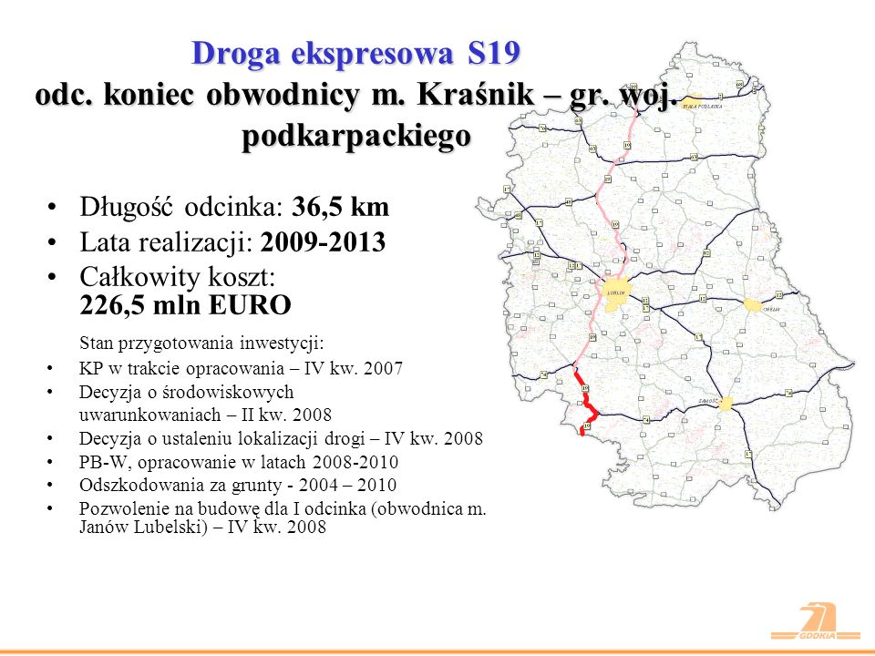 Droga ekspresowa S19 odc. koniec obwodnicy m. Kraśnik – gr. woj