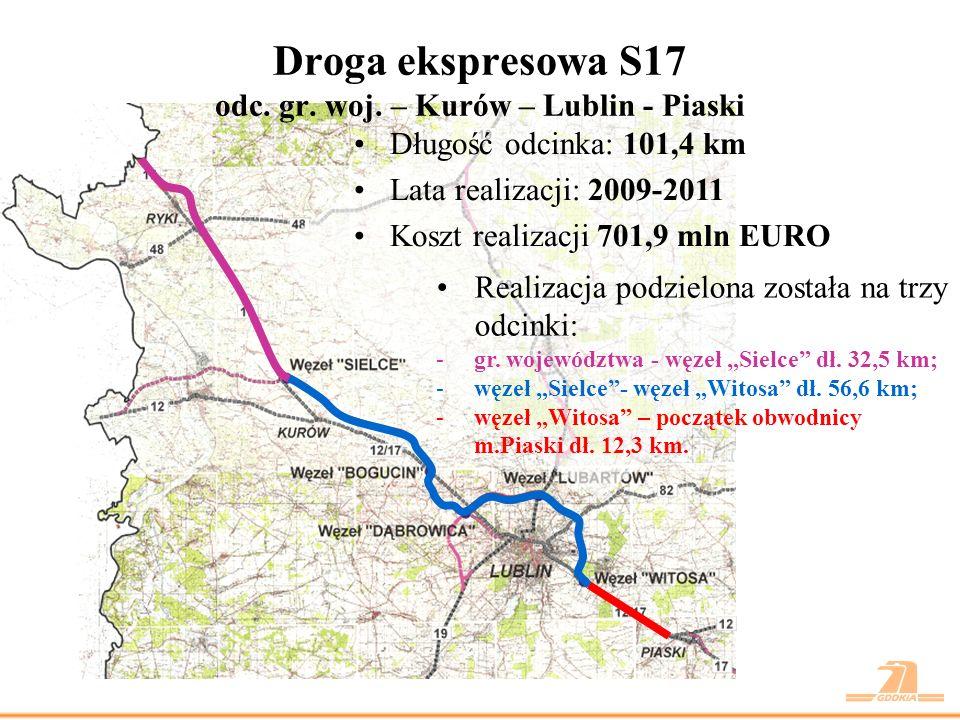 Droga ekspresowa S17 odc. gr. woj. – Kurów – Lublin - Piaski
