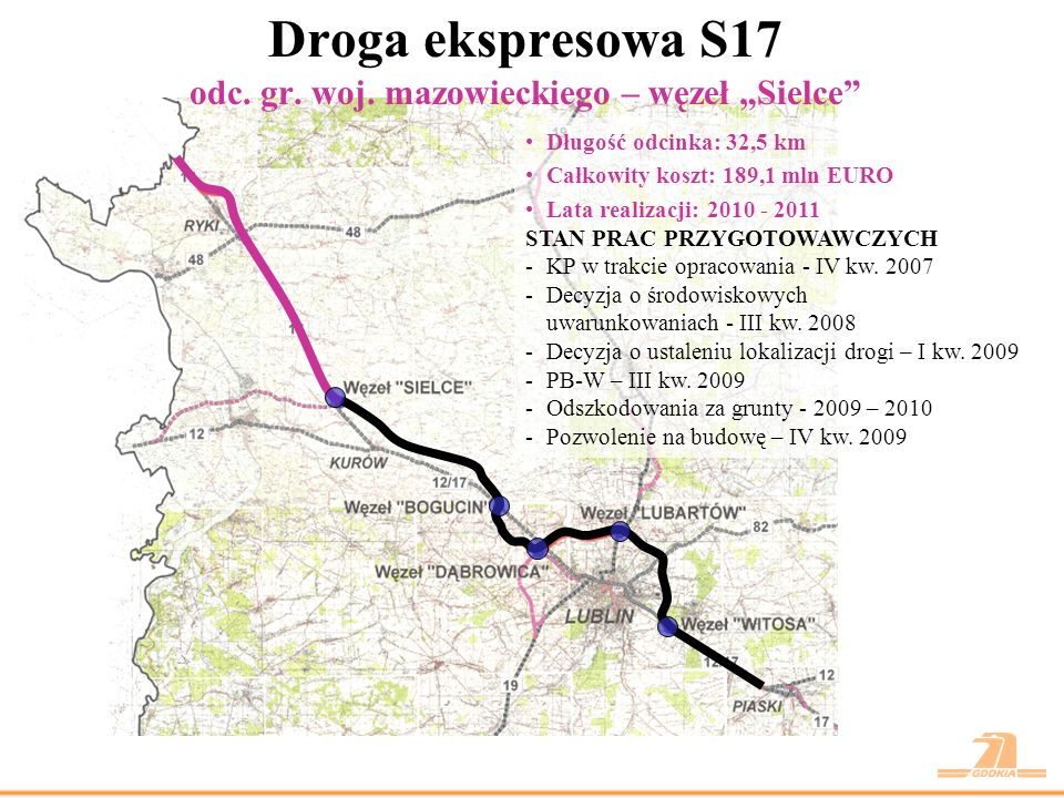 """Droga ekspresowa S17 odc. gr. woj. mazowieckiego – węzeł """"Sielce"""