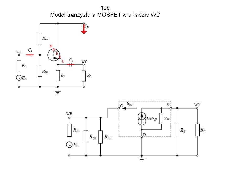 Model tranzystora MOSFET w układzie WD