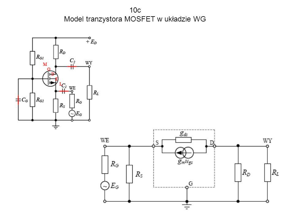 Model tranzystora MOSFET w układzie WG