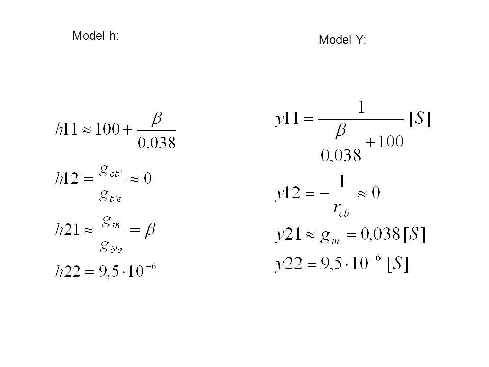 Model h: Model Y: