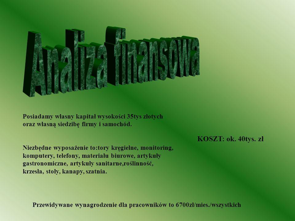 Analiza finansowa KOSZT: ok. 40tys. zł