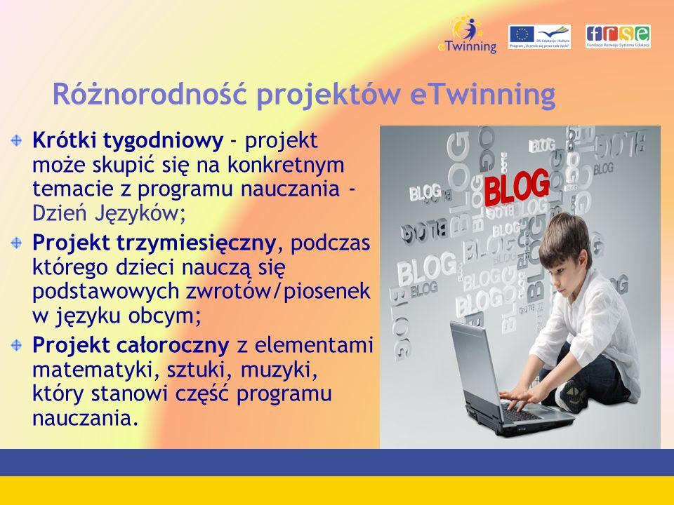 Różnorodność projektów eTwinning