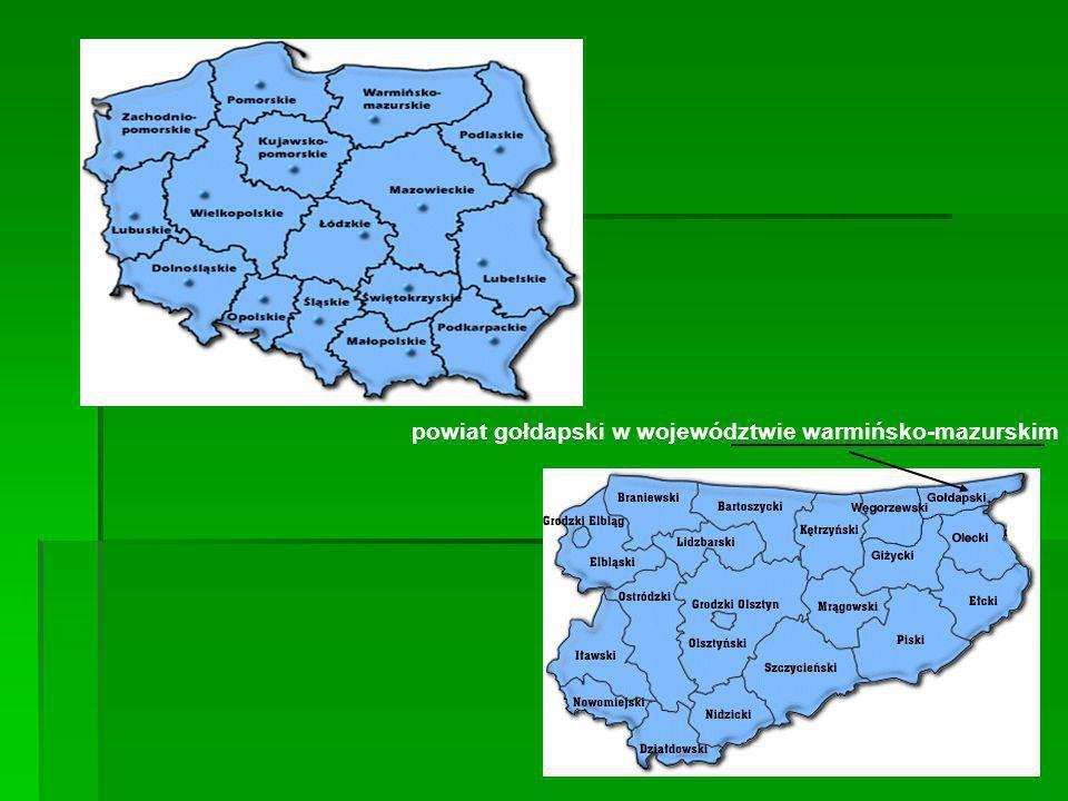 powiat gołdapski w województwie warmińsko-mazurskim