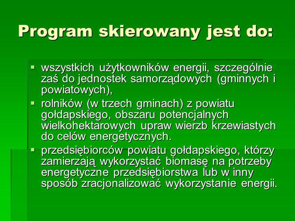 Program skierowany jest do:
