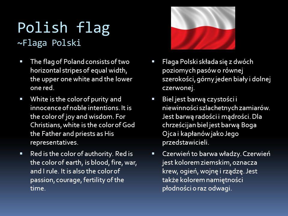 Polish flag ~Flaga Polski