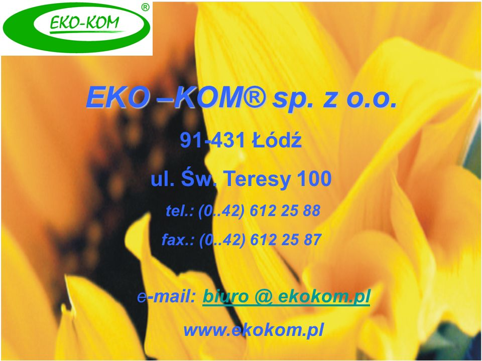 e-mail: biuro @ ekokom.pl
