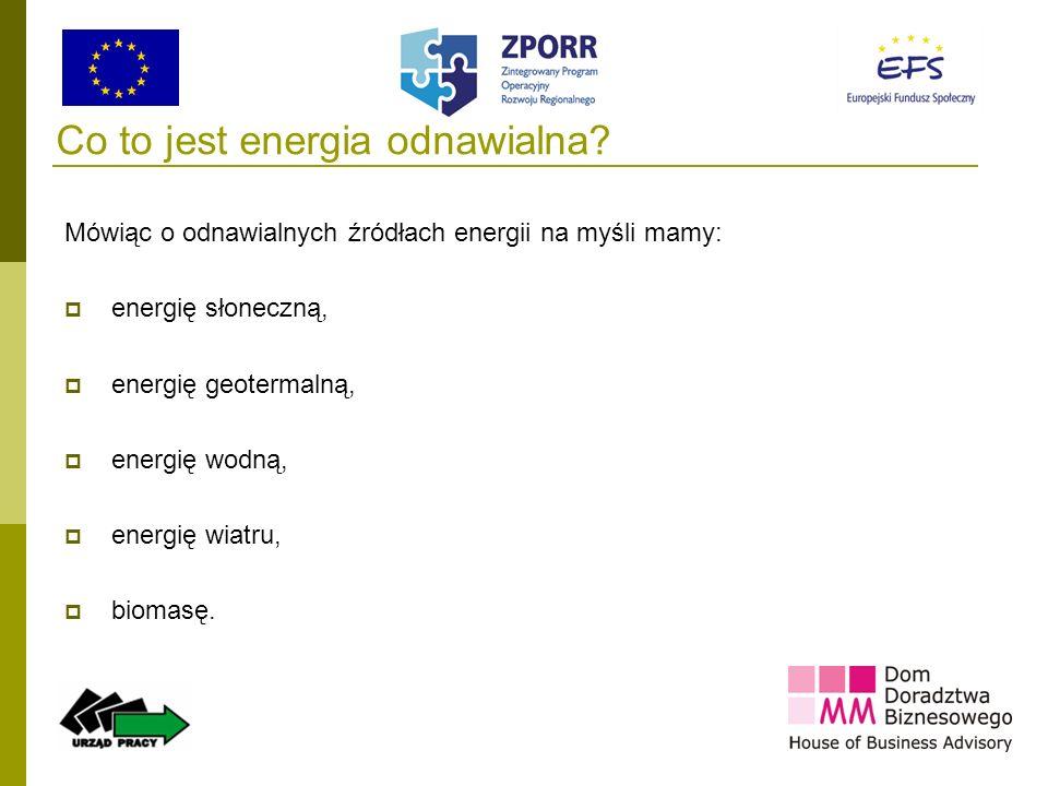 Co to jest energia odnawialna