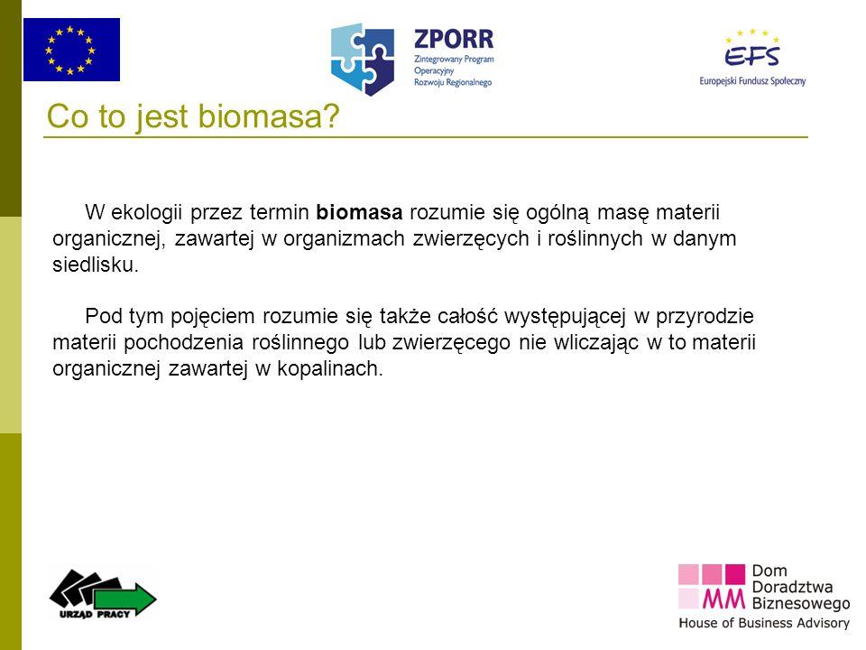 Co to jest biomasa W ekologii przez termin biomasa rozumie się ogólną masę materii.