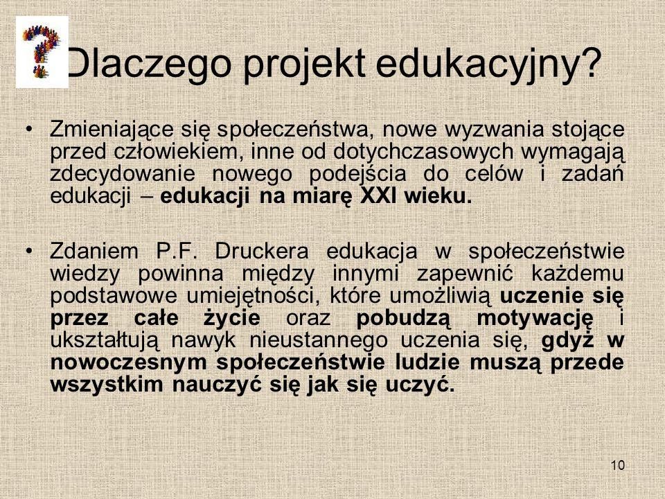 Dlaczego projekt edukacyjny