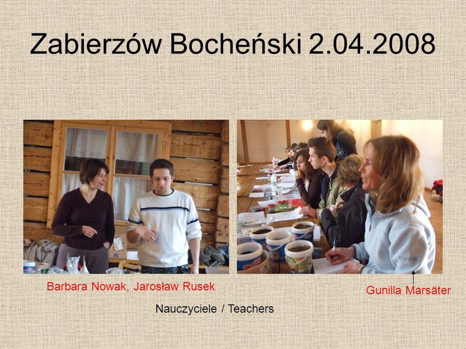 Zabierzów Bocheński 2.04.2008 Barbara Nowak, Jarosław Rusek