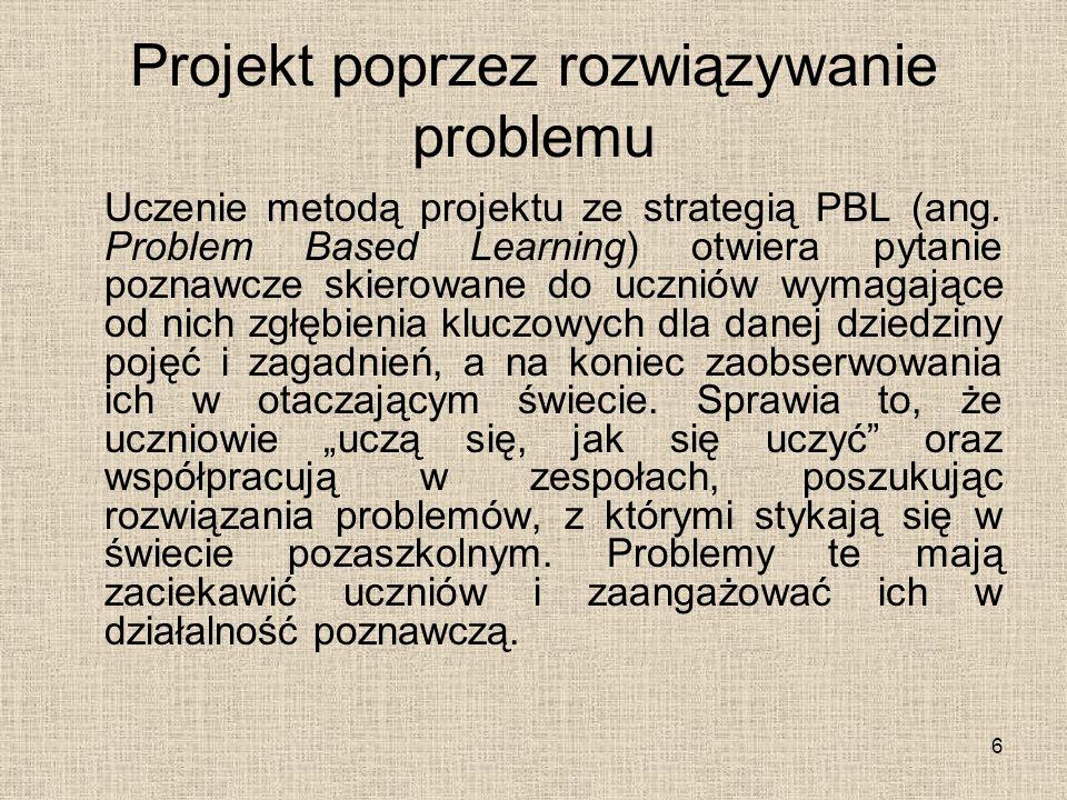 Projekt poprzez rozwiązywanie problemu