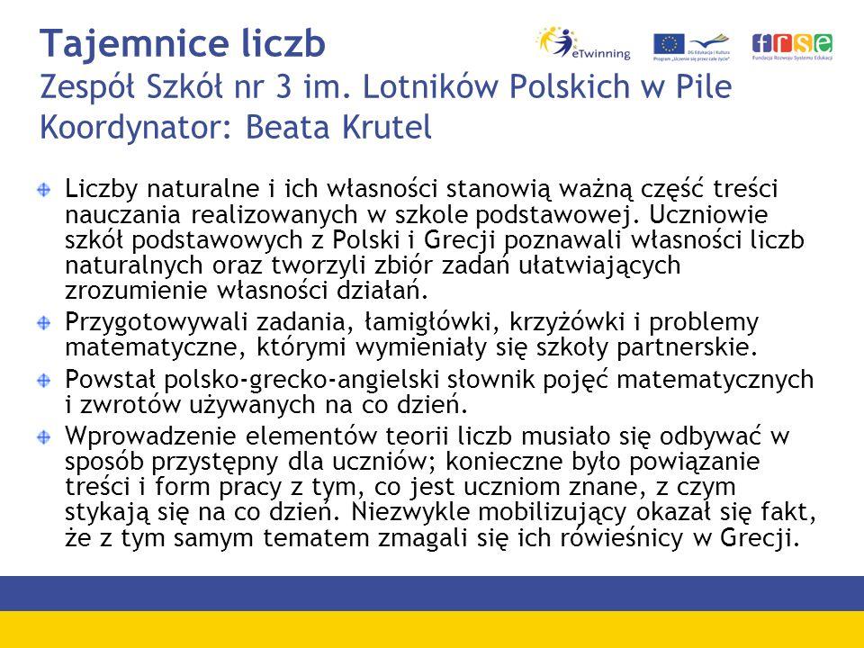 Tajemnice liczb Zespół Szkół nr 3 im