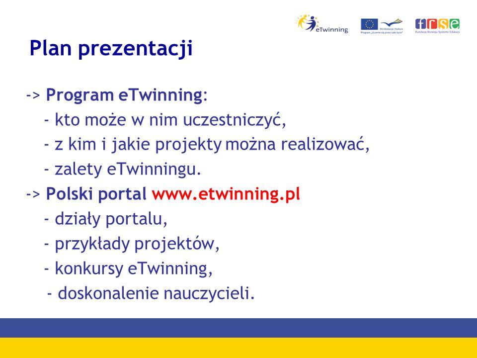 Plan prezentacji -> Program eTwinning: