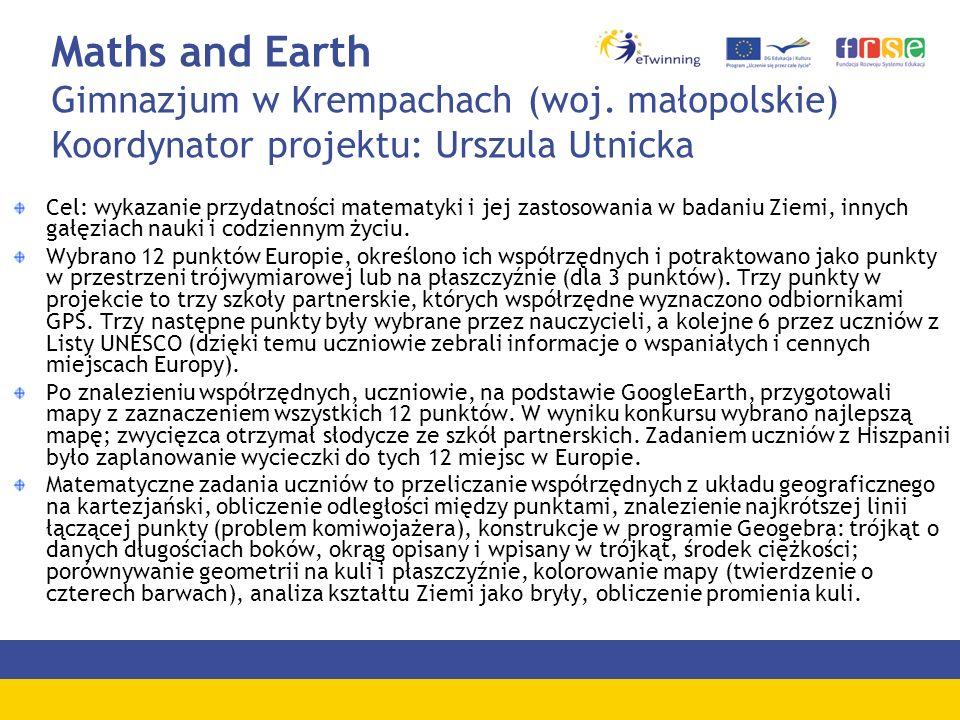 Maths and Earth Gimnazjum w Krempachach (woj