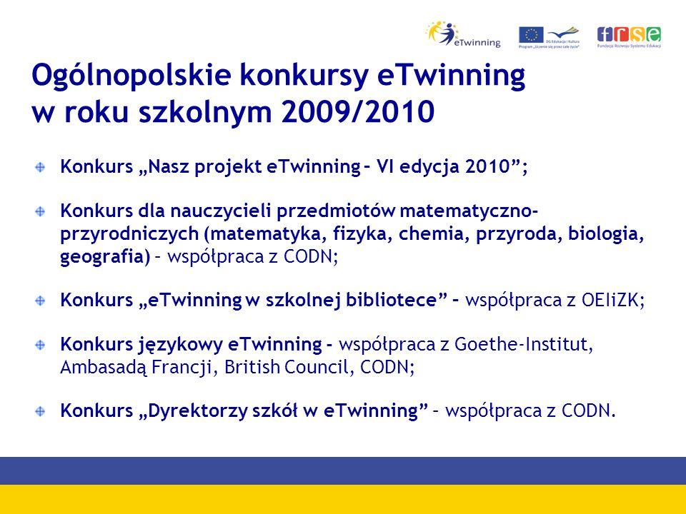 Ogólnopolskie konkursy eTwinning w roku szkolnym 2009/2010