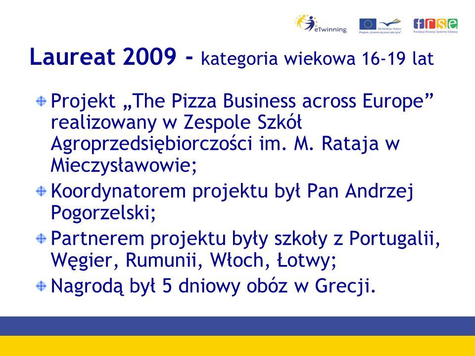Laureat 2009 - kategoria wiekowa 16-19 lat