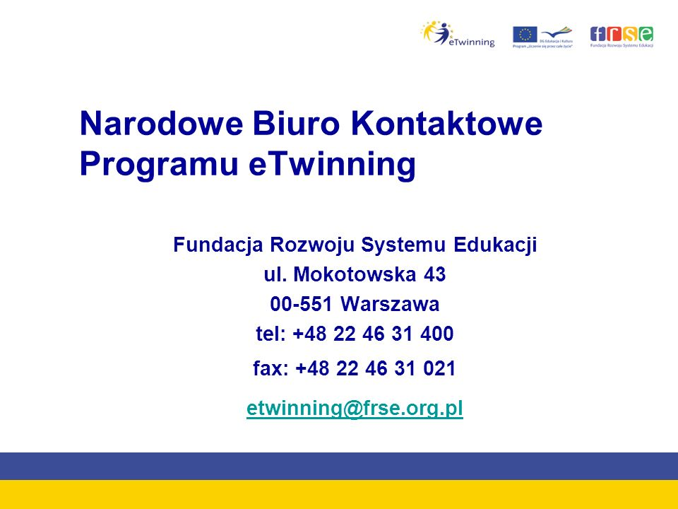 Narodowe Biuro Kontaktowe Programu eTwinning