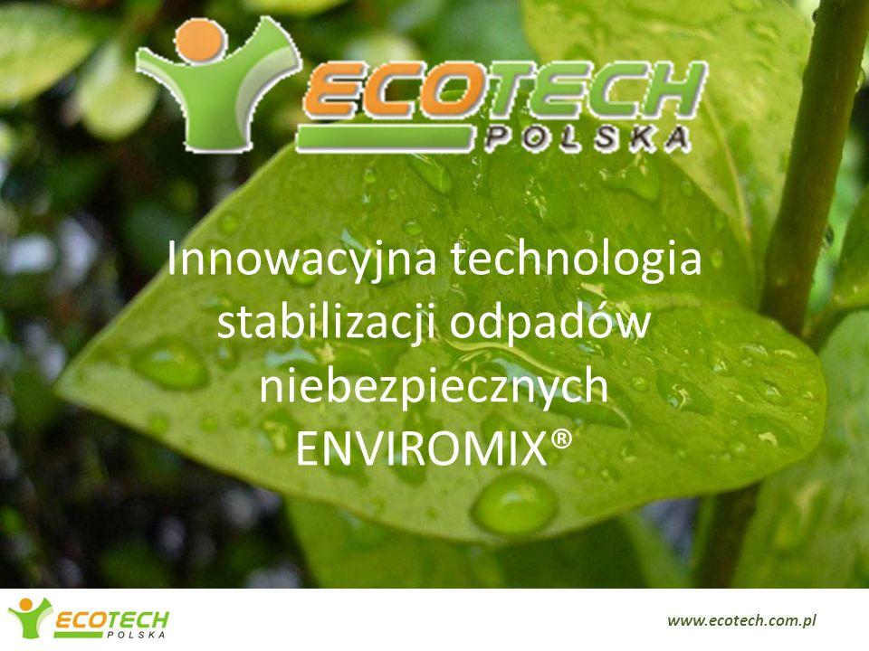 Innowacyjna technologia stabilizacji odpadów niebezpiecznych ENVIROMIX®