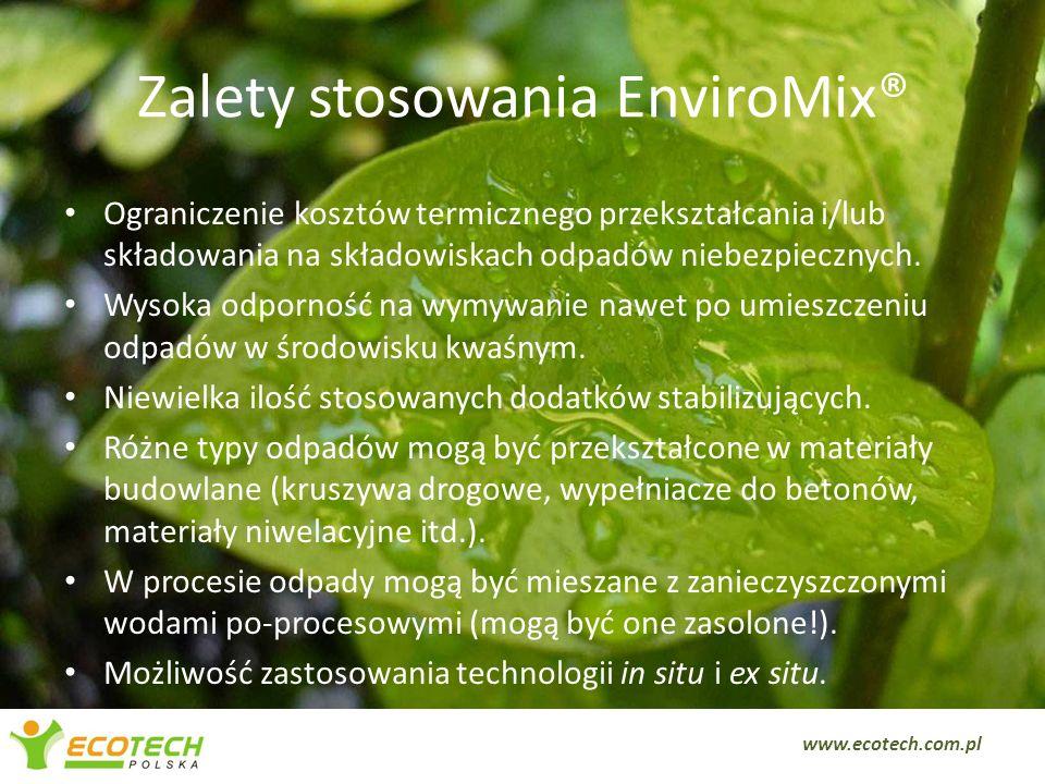 Zalety stosowania EnviroMix®