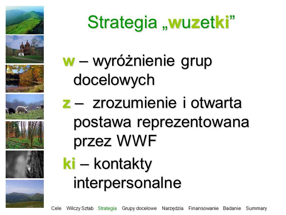 """Strategia """"wuzetki w – wyróżnienie grup docelowych"""