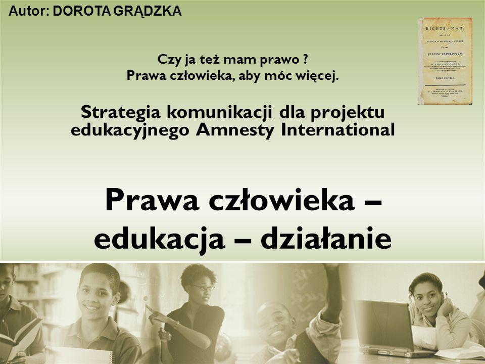 Prawa człowieka – edukacja – działanie