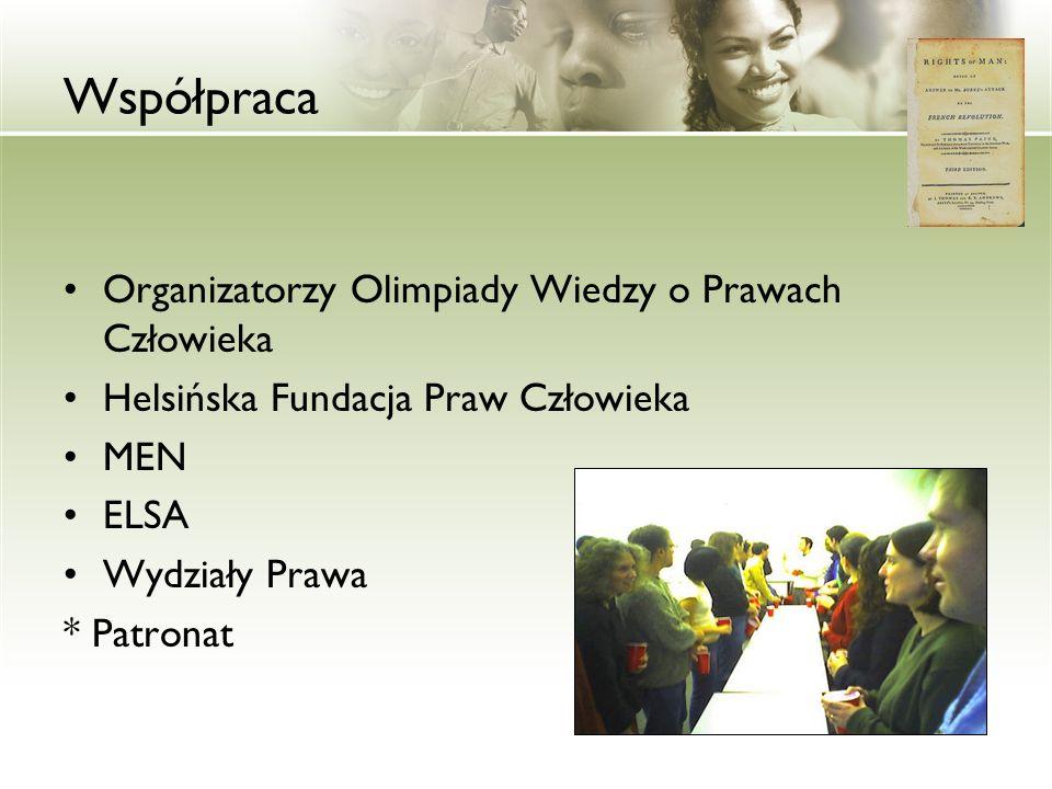 Współpraca Organizatorzy Olimpiady Wiedzy o Prawach Człowieka