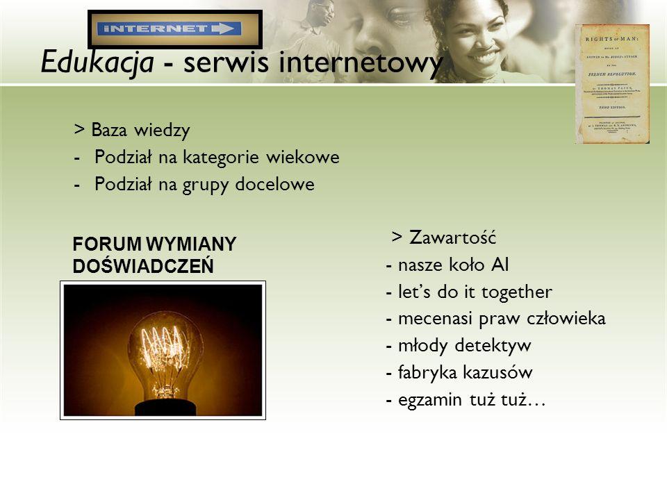 Edukacja - serwis internetowy