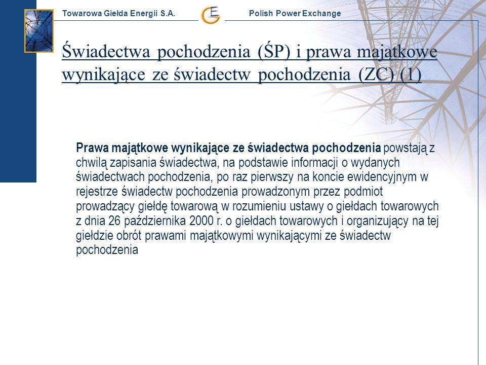 Świadectwa pochodzenia (ŚP) i prawa majątkowe wynikające ze świadectw pochodzenia (ZC) (1)