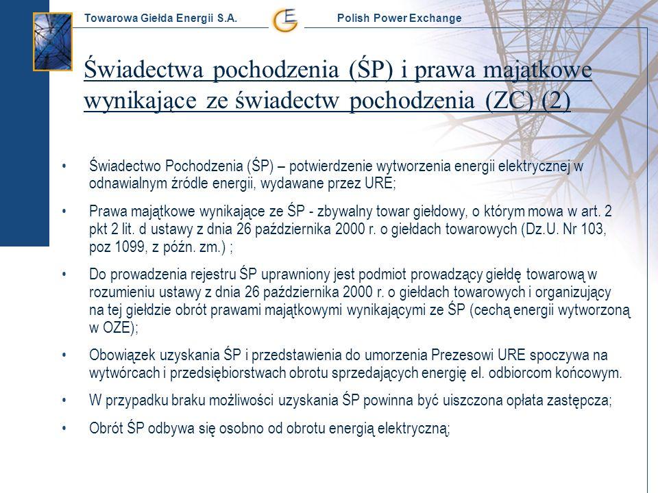 Świadectwa pochodzenia (ŚP) i prawa majątkowe wynikające ze świadectw pochodzenia (ZC) (2)