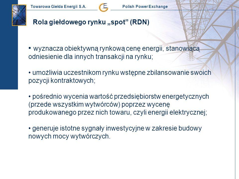 """Rola giełdowego rynku """"spot (RDN)"""