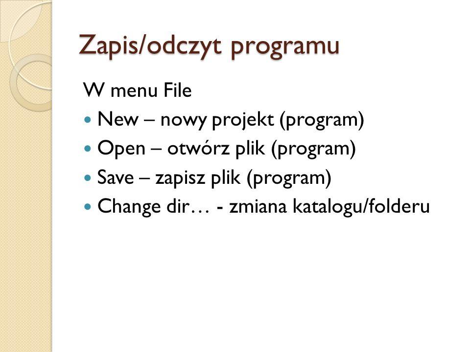 Zapis/odczyt programu
