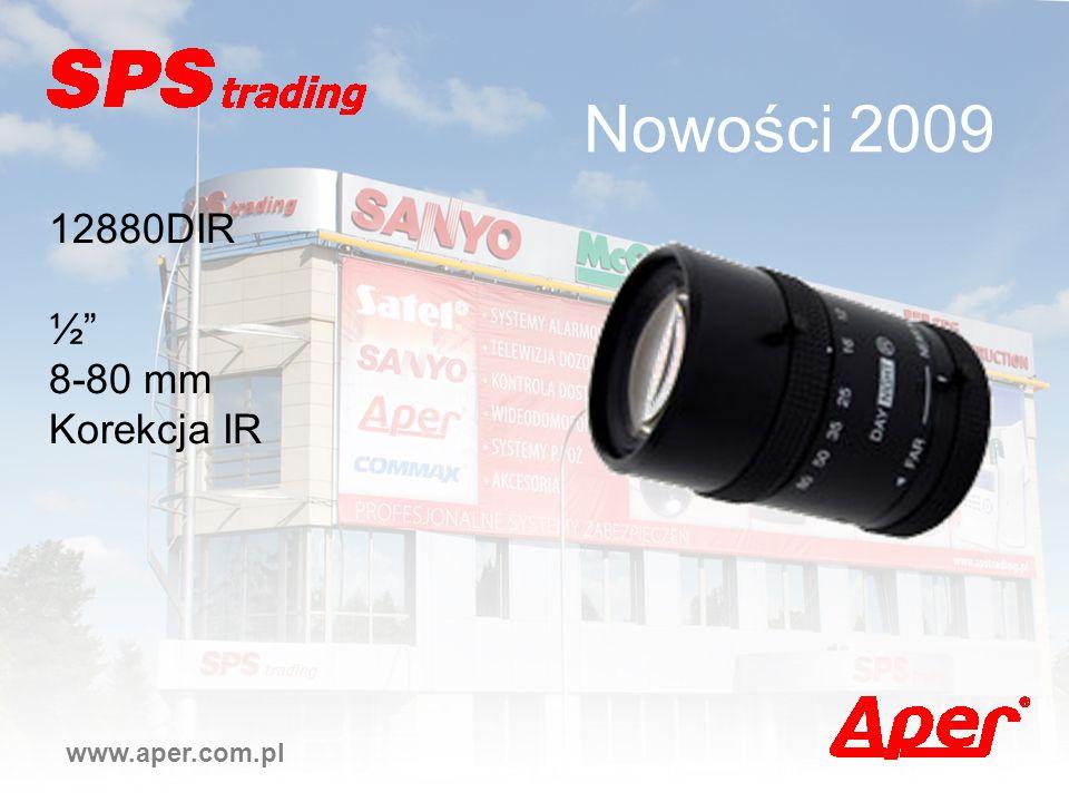 Nowości 2009 12880DIR ½ 8-80 mm Korekcja IR www.aper.com.pl