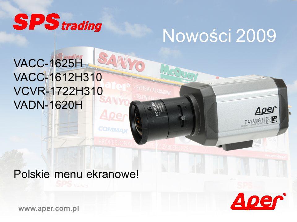 Nowości 2009 VACC-1625H VACC-1612H310 VCVR-1722H310 VADN-1620H