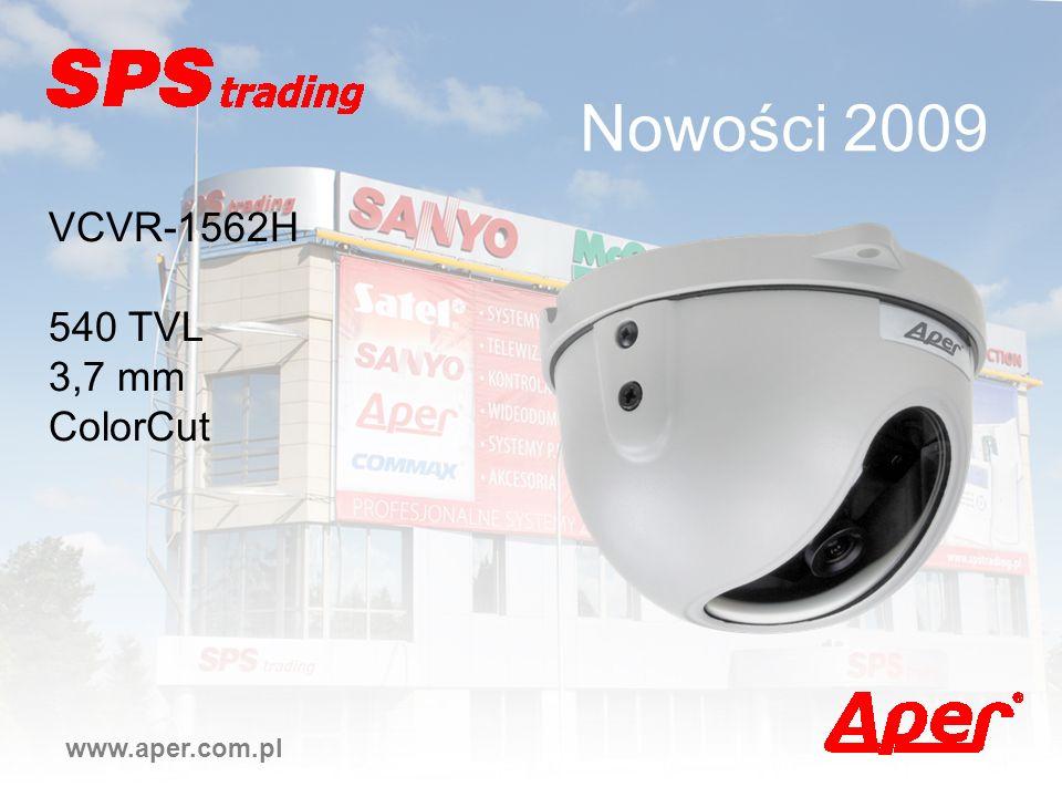Nowości 2009 VCVR-1562H 540 TVL 3,7 mm ColorCut www.aper.com.pl