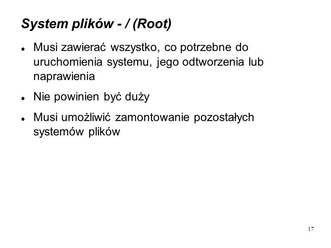System plików - / (Root)