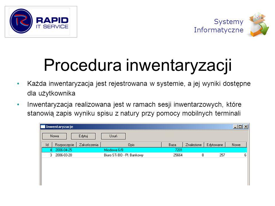 Procedura inwentaryzacji