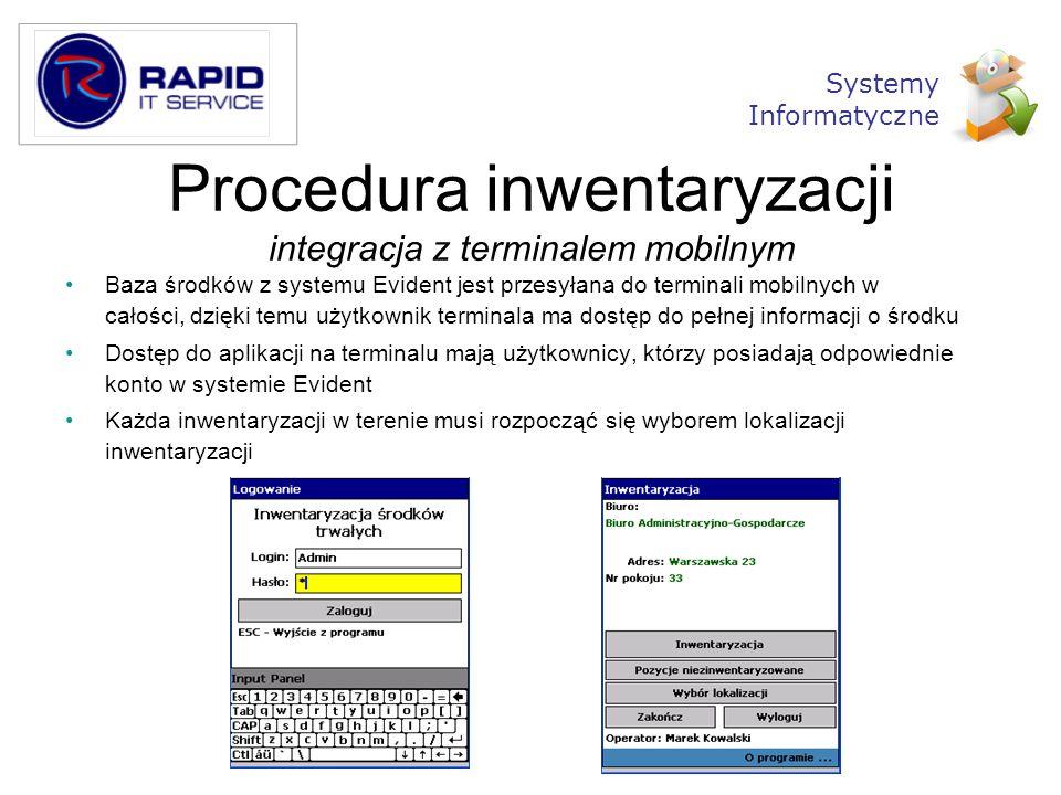 Procedura inwentaryzacji integracja z terminalem mobilnym