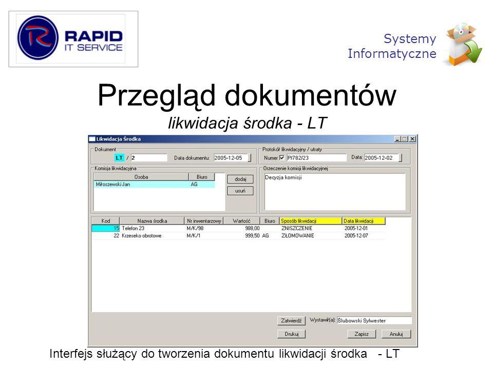 Przegląd dokumentów likwidacja środka - LT