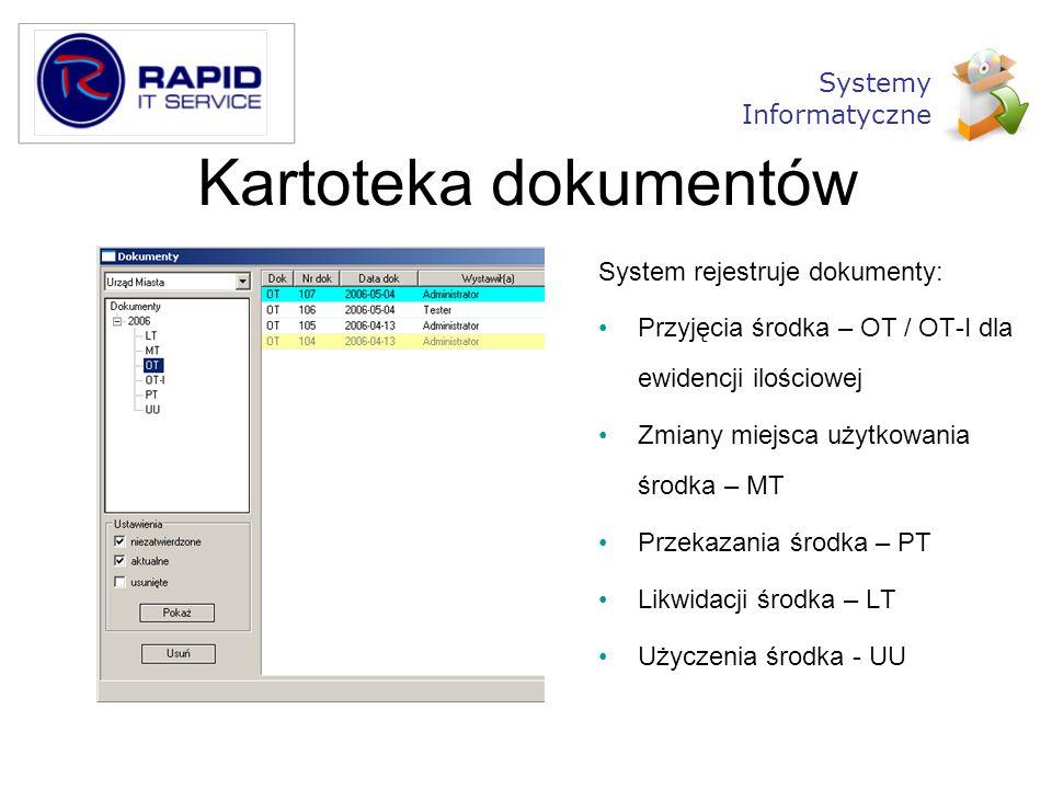 Kartoteka dokumentów Systemy Informatyczne