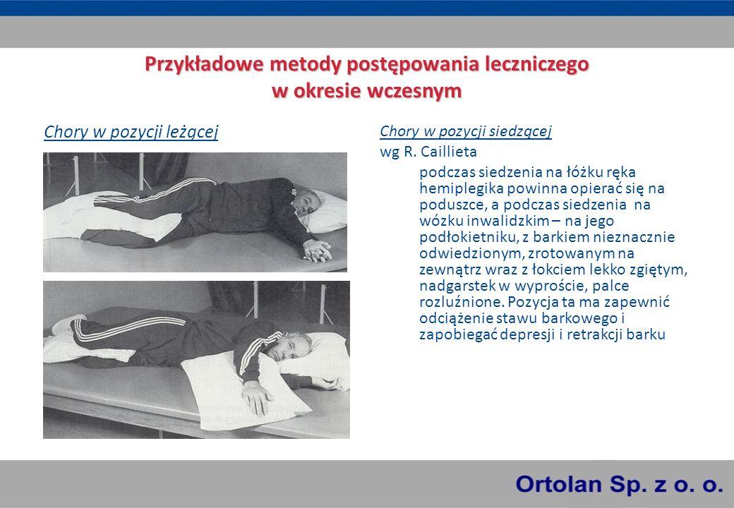 Przykładowe metody postępowania leczniczego w okresie wczesnym