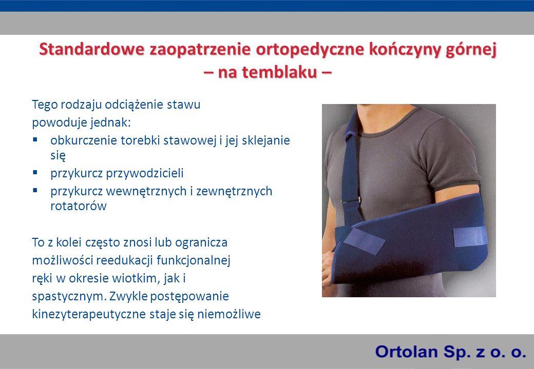 Standardowe zaopatrzenie ortopedyczne kończyny górnej – na temblaku –
