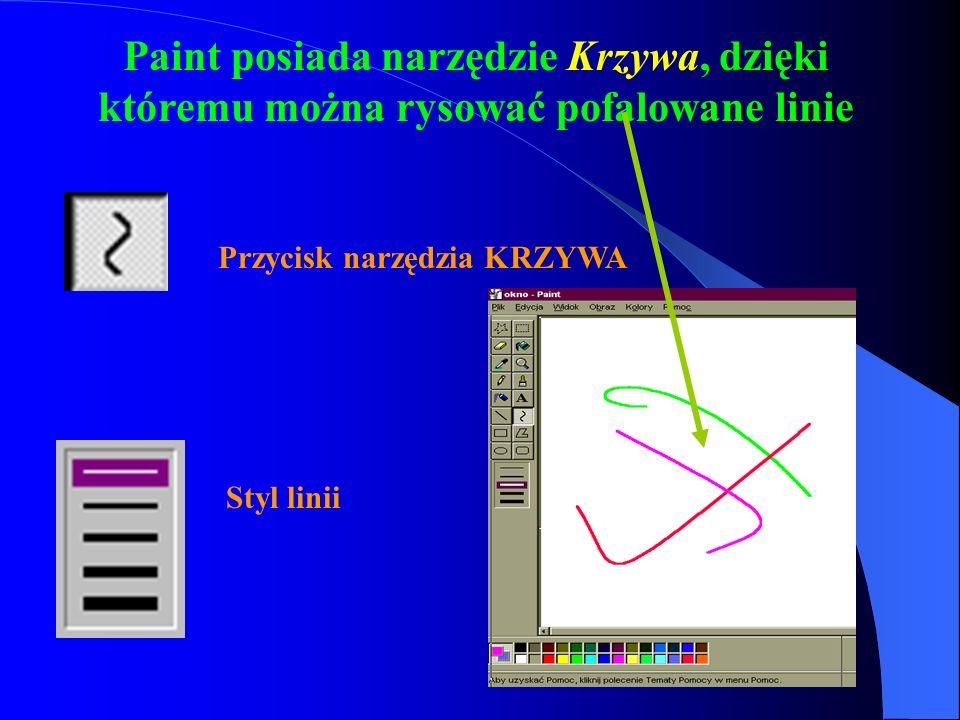 Paint posiada narzędzie Krzywa, dzięki któremu można rysować pofalowane linie