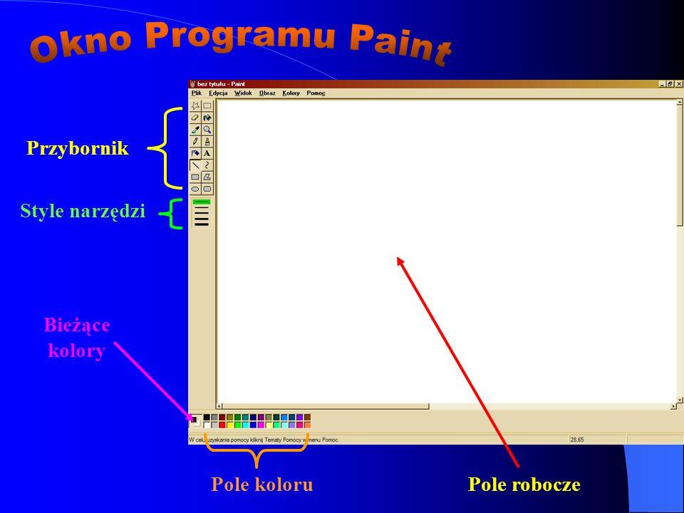Okno Programu Paint Przybornik Style narzędzi Bieżące kolory