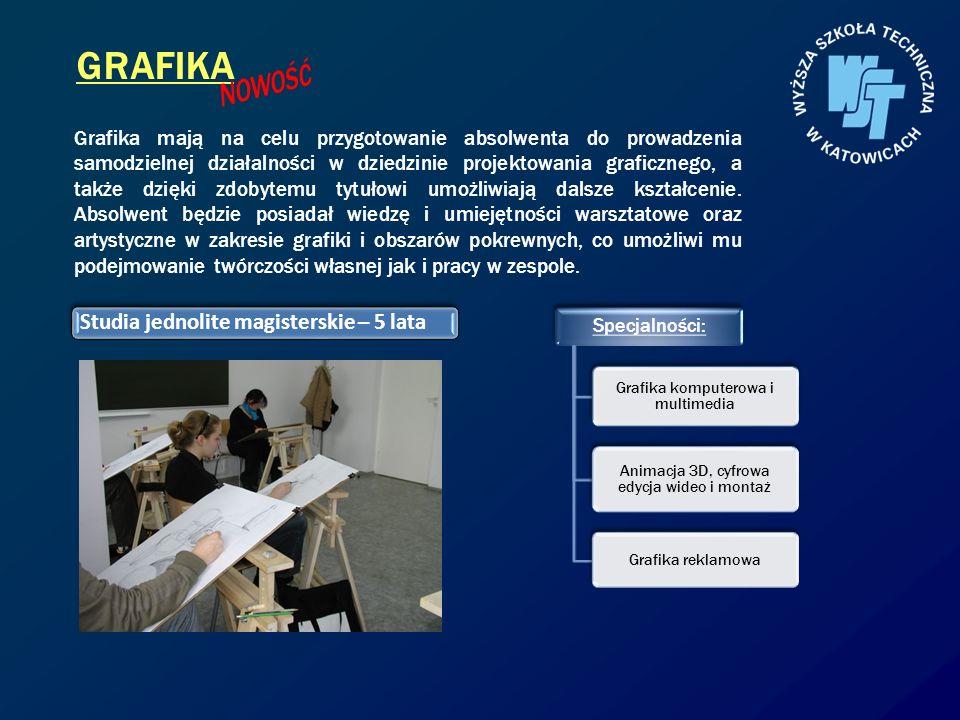 GRAFIKA NOWOŚĆ Studia jednolite magisterskie – 5 lata