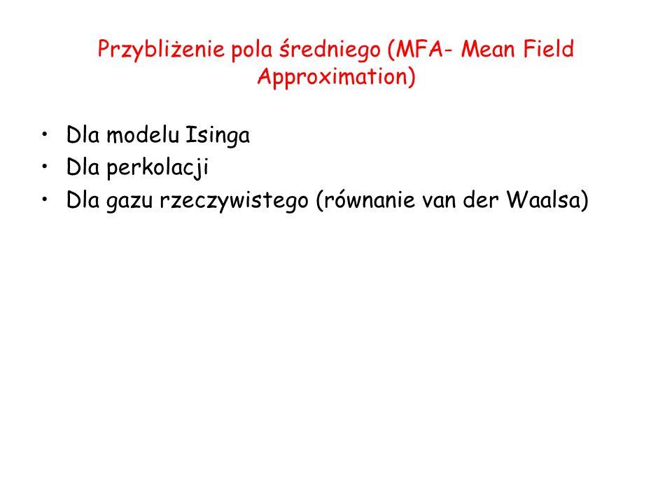Przybliżenie pola średniego (MFA- Mean Field Approximation)