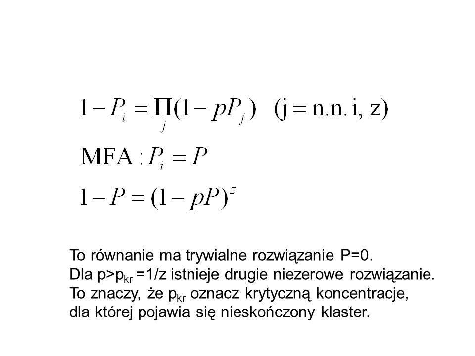 To równanie ma trywialne rozwiązanie P=0.